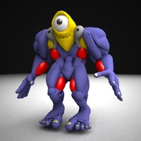 3d model eye monster