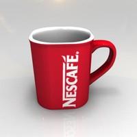 3d nescafe cup