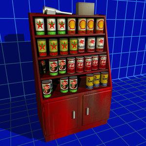 oil rack 01 3d model