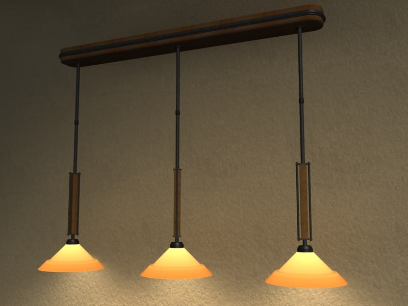 pendant light 3d 3ds