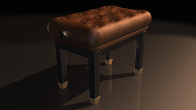 piano chair 3d max