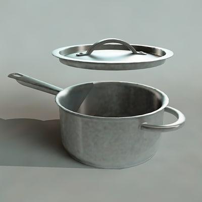 3d model cooking pot