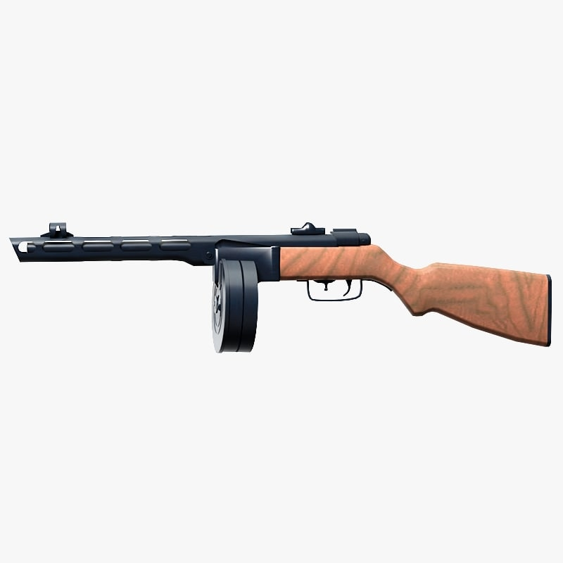 shpagina pistol gun 3d model