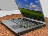 laptop lap 3d model
