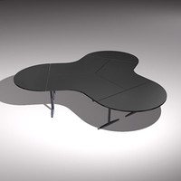 cloverleaf office desk 3d model