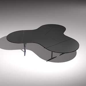 cloverleaf office desk 3d model