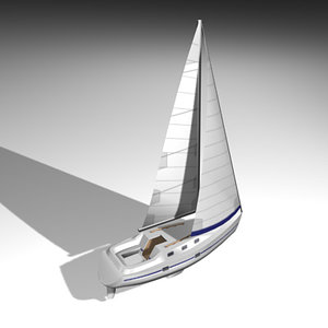3d sailboat sailing yacht