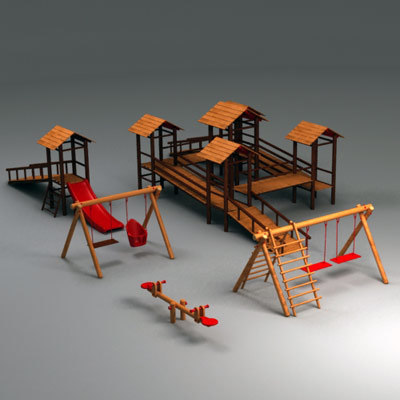 wooden playground elements max