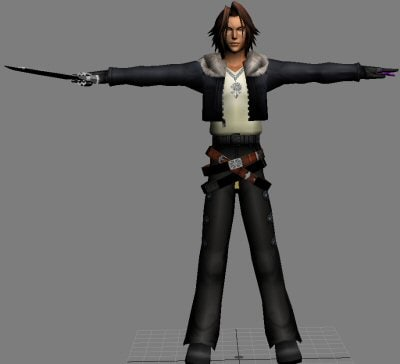 squall final fantasy 3d model