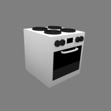 3d model kitchen stove