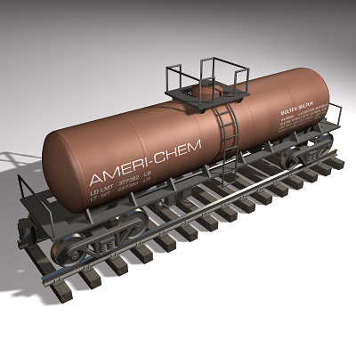 3d model train tanker car track