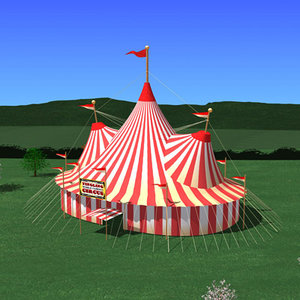 3dsmax circus tent