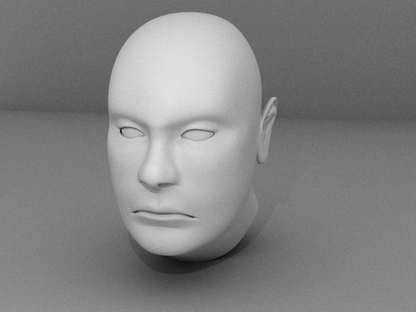3d model male face