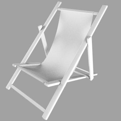 3d model of deck deckchair chair
