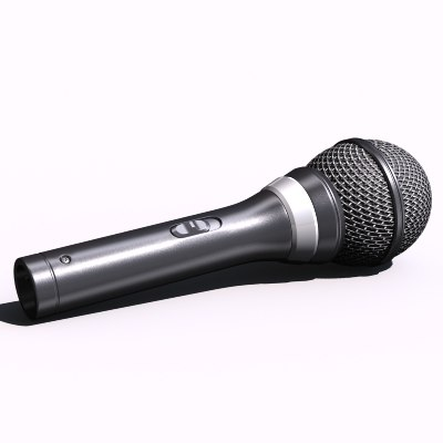 3d model mike mic