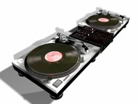 technics turntables 3d model