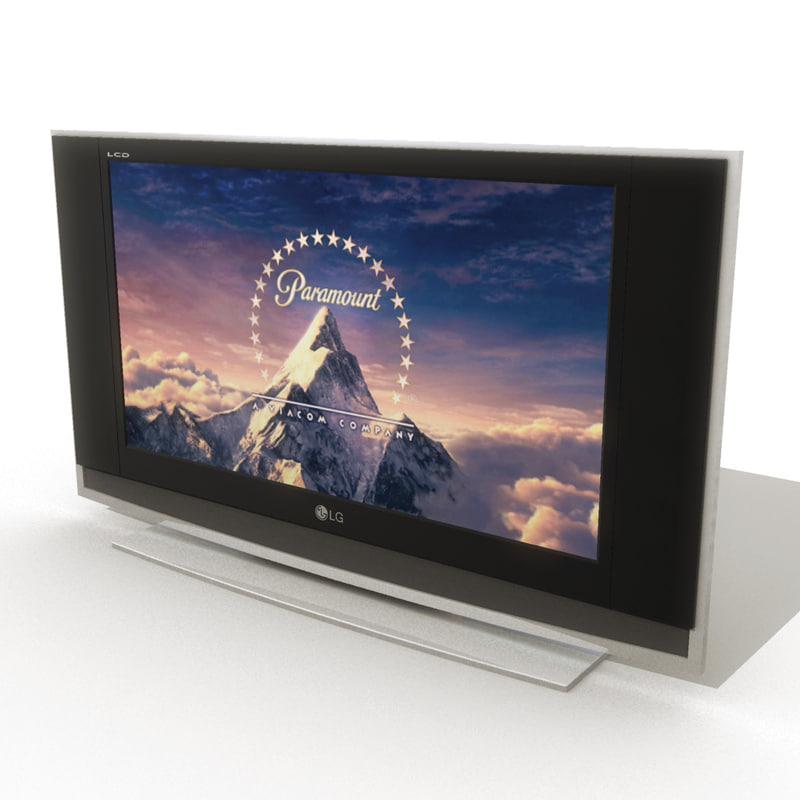 3d flat television model
