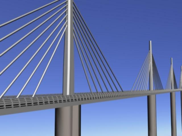 millau viaduct france - 3ds