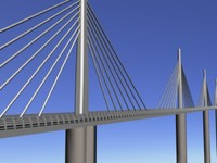 millau viaduct france - 3ds