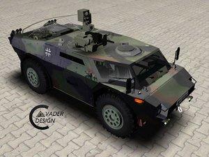 3dsmax vehicle fennek artillery