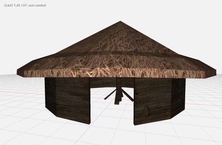 village hut 3d x