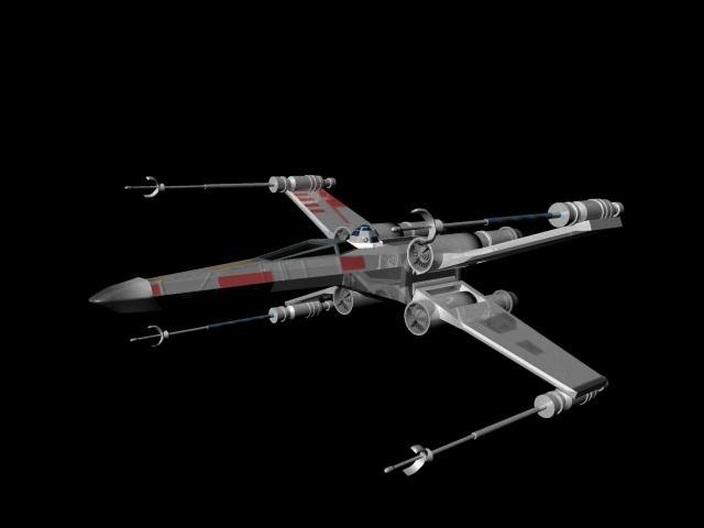 3d x-wing fighter wings
