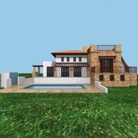3d house door window model