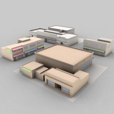 3d 4 pack shop model