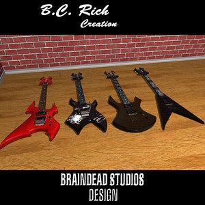 3d max b c rich guitar