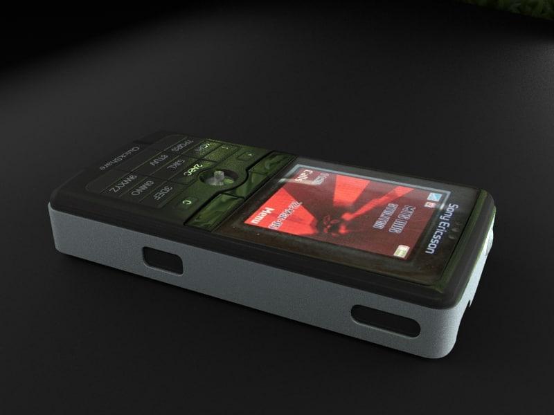 3d sony k750i phone