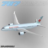 3ds max b787-8 air canada