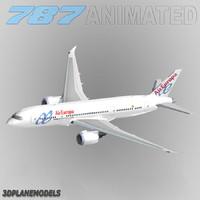 b787-8 air europa 3d model