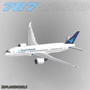 b787-8 garuda indonesia 3d model