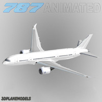 b787-8 generic white 3d 3ds
