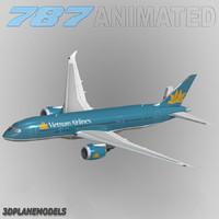 3d b787-8 vietnam airlines model