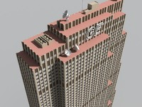 3d model ge building new york