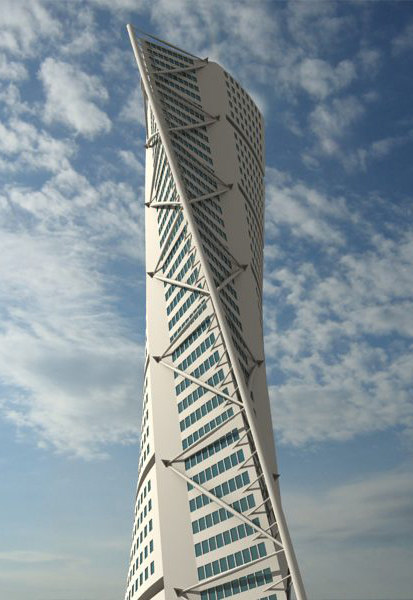 3d model hsb turning torso building skyscrapers