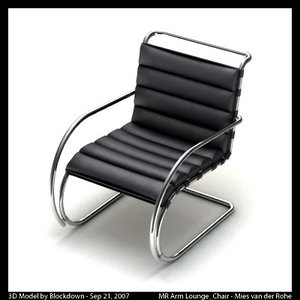 3ds max mies van leather