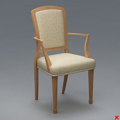 chair 3d dxf