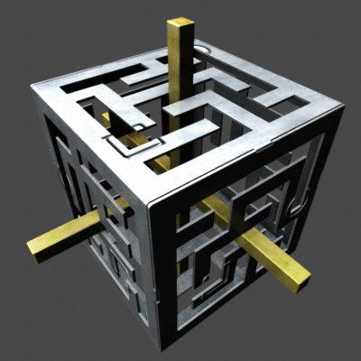 3ds max maze cube