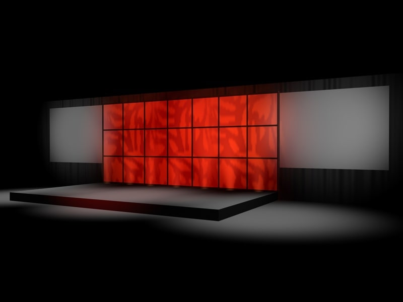 c4d corporate stage lights