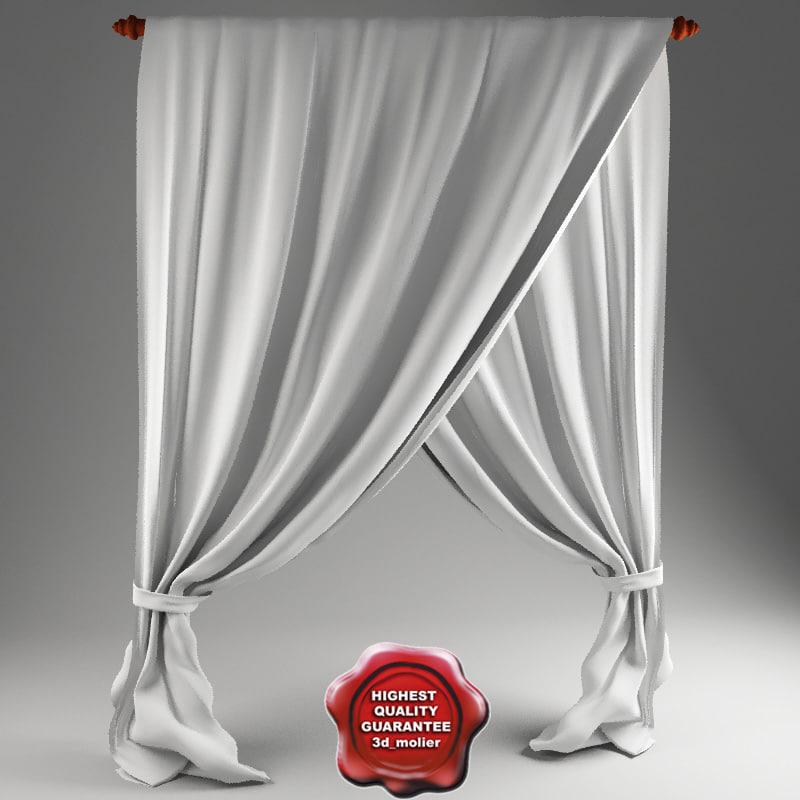 3dsmax crossed curtain