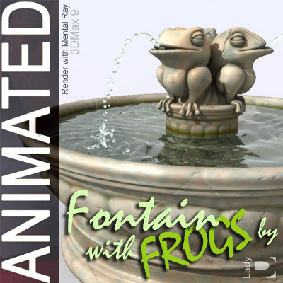 3d max fountain frogs