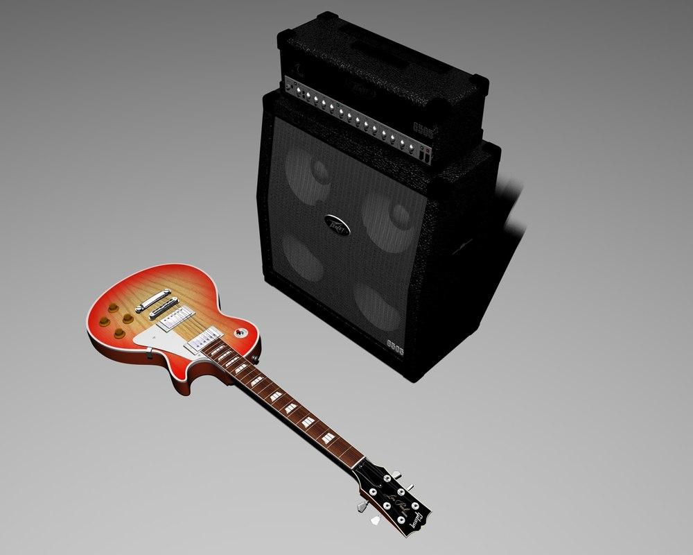 gibson lespaul guitar c4d