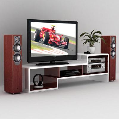 3d c4d home entertainment set