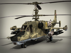 3d russian attack helicopter ka-50 model