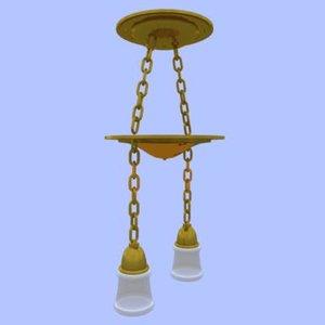hanging light fixture 3d model