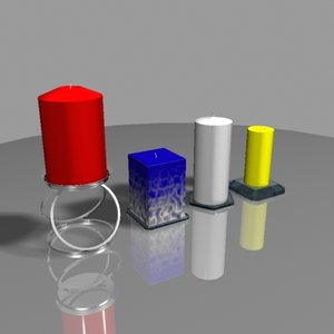 free candles holders 3d model