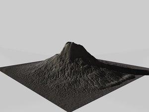 volcano terrain 3d c4d