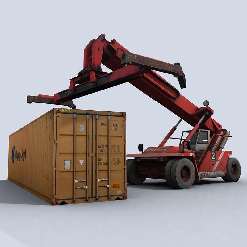 3d reachstacker stacker